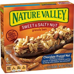 Nature Valley Sweet & Salty Chocolate Pretzel Nut Granola Bars - 6ct