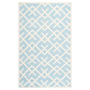 Safavieh Tangier Dhurry Rug - Light Blue/Ivory (5