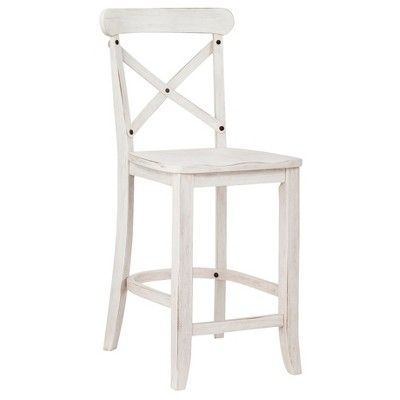 Harvester X-Back 24  Counter Stool - White - Beekman 1802 FarmHouse™