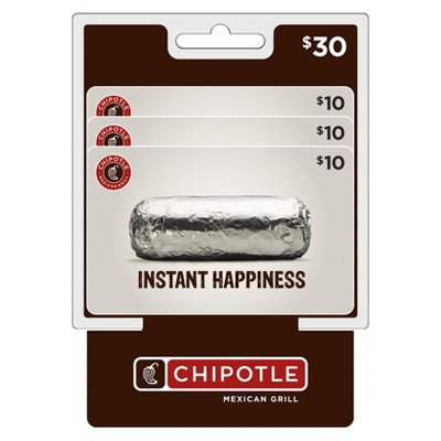 Chipotle MP $30 Gift Card