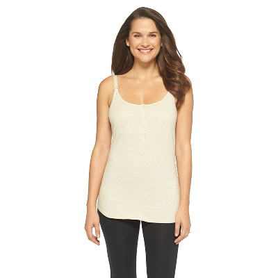 Women's Nursing Henley Cami Heather Oatmeal M - Gilligan & O'Malley™