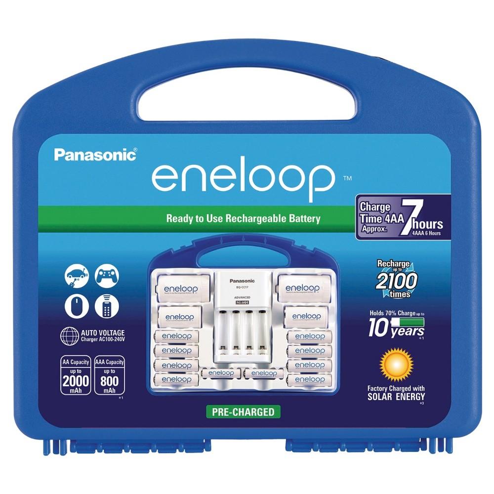 """Panasonic eneloop Power Pack - 2100 cycle, 8AA, 2AAA, 2 """"c"""" Spacers, 2 """"d"""" Spacers, Individual Battery"""