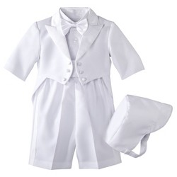 Baby Boys' Authentic Tux with Tails - White