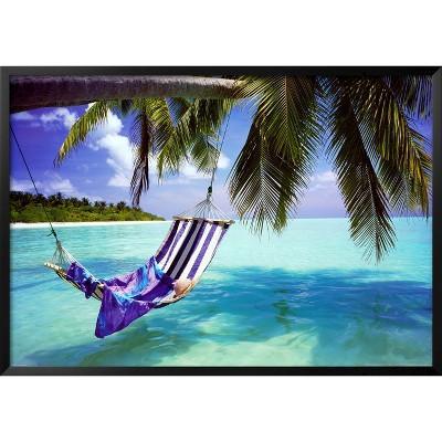 Art.com - Tropical Beach Framed Poster