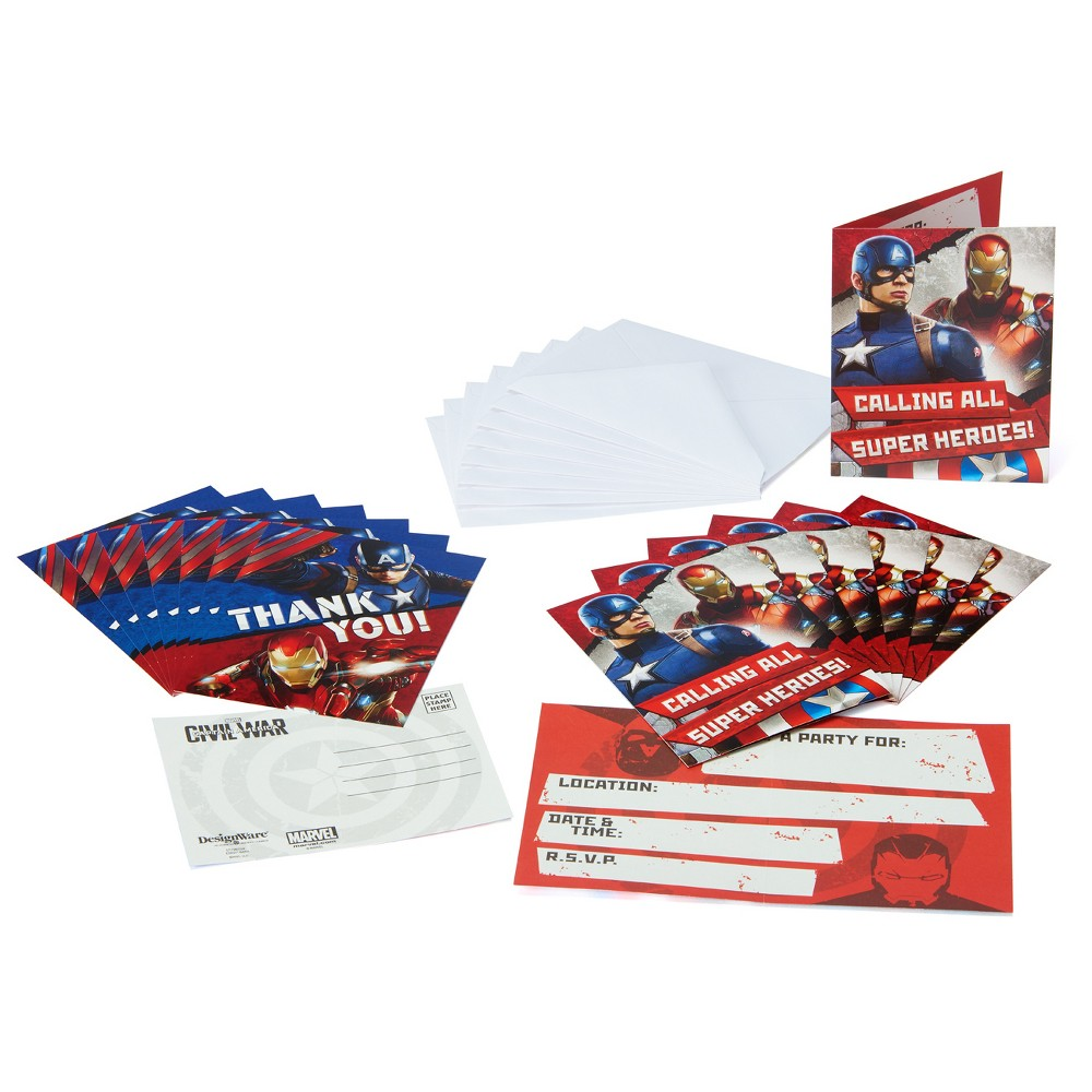Avengers Invitation and Thank You Card Pack