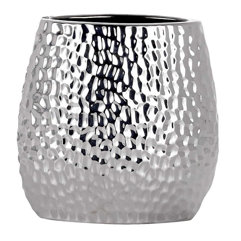 Mecca Short Vase   Chrome by Torre & Tagus