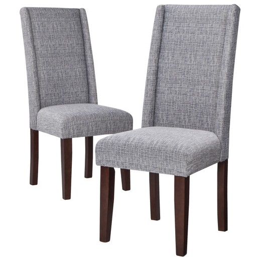 charlie modern wingback dining chair (set of 2) : target