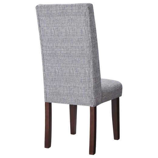 Charlie Modern Wingback Dining Chair Textured Gray Set