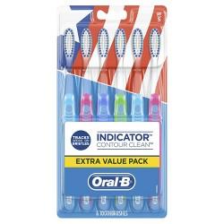 Oral-B Indicator Contour Clean Soft Bristle Manual Toothbrush - 6ct