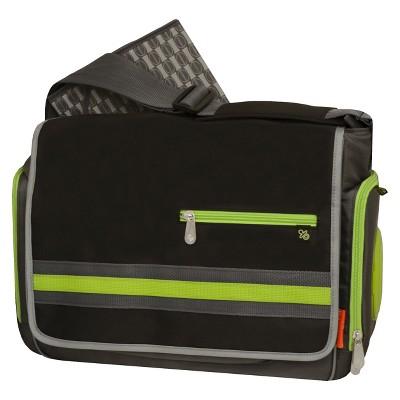 Fisher-Price Urban Messenger Diaper Bag - Black, Lime, Gray