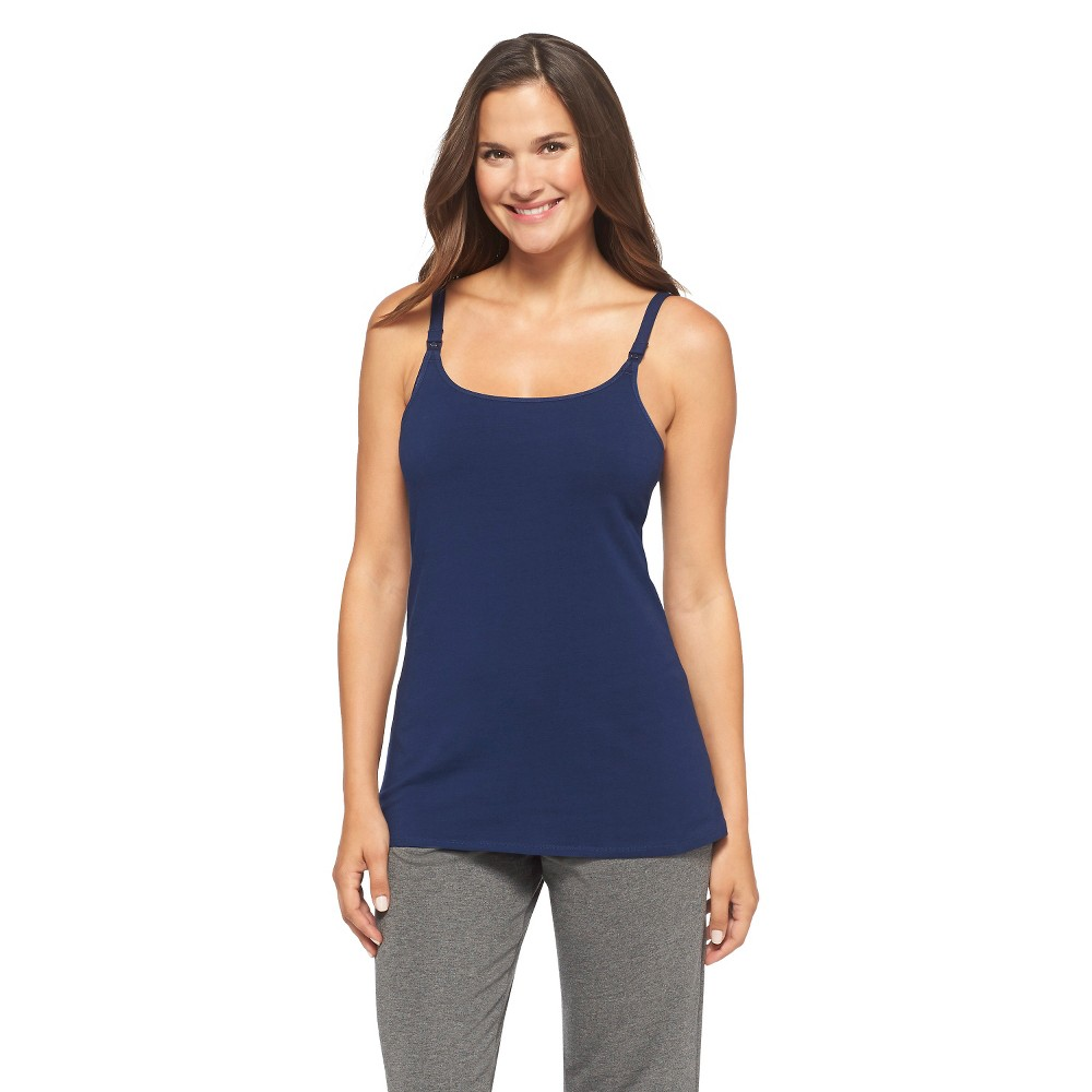 Womens Nursing Cotton Cami Nighttime Blue XL