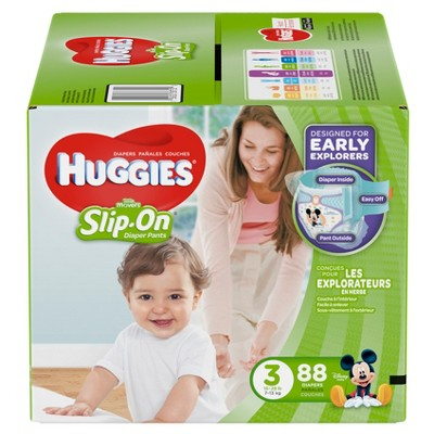 Huggies® Little Movers Slip On Diaper Pants, Size 3
