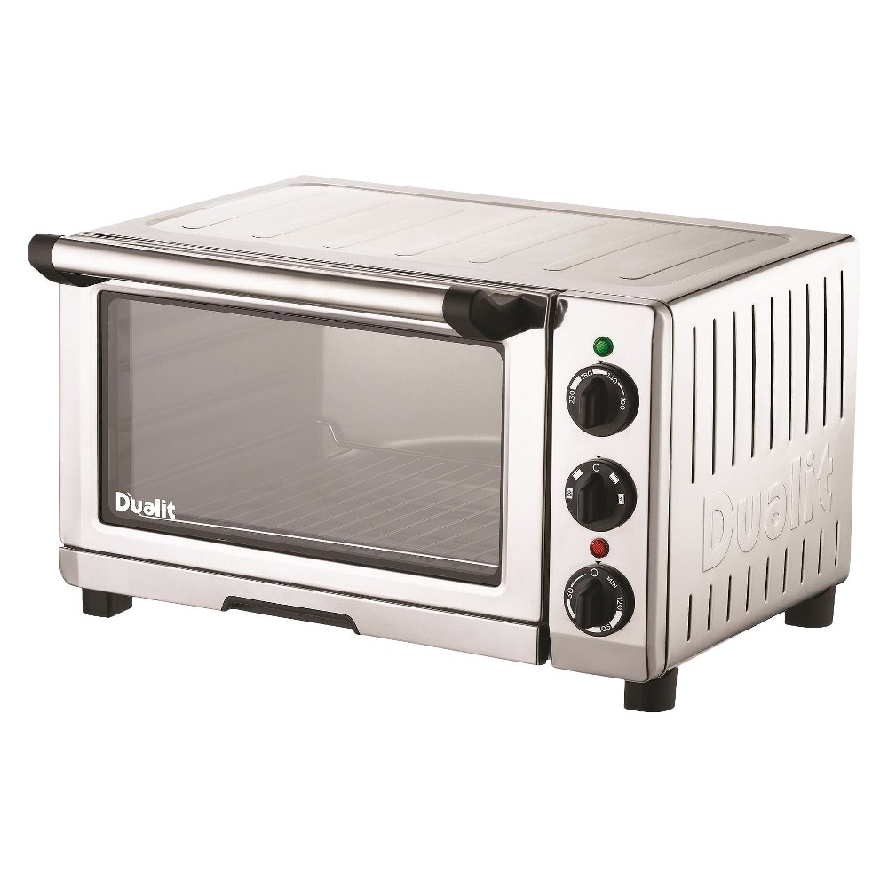 Dualit Chrome (Grey) Stainless Steel Mini Oven - 16.5x14x9.9