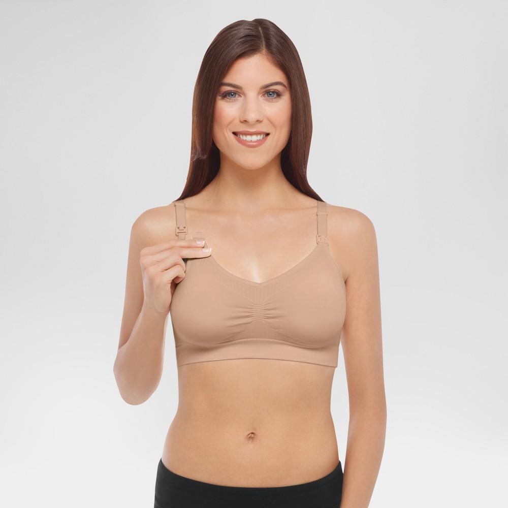 Medela Womens Nursing Seamless Bra - Nude L