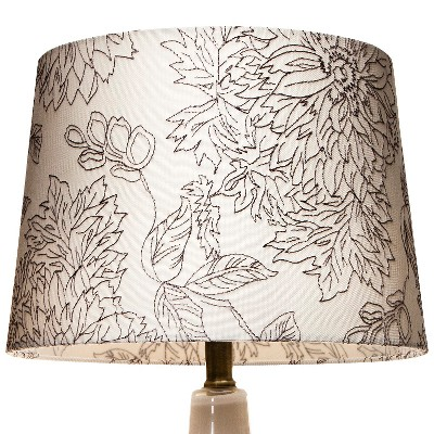 Floral Toile Stitch Lamp Shade Shell Medium - Threshold™