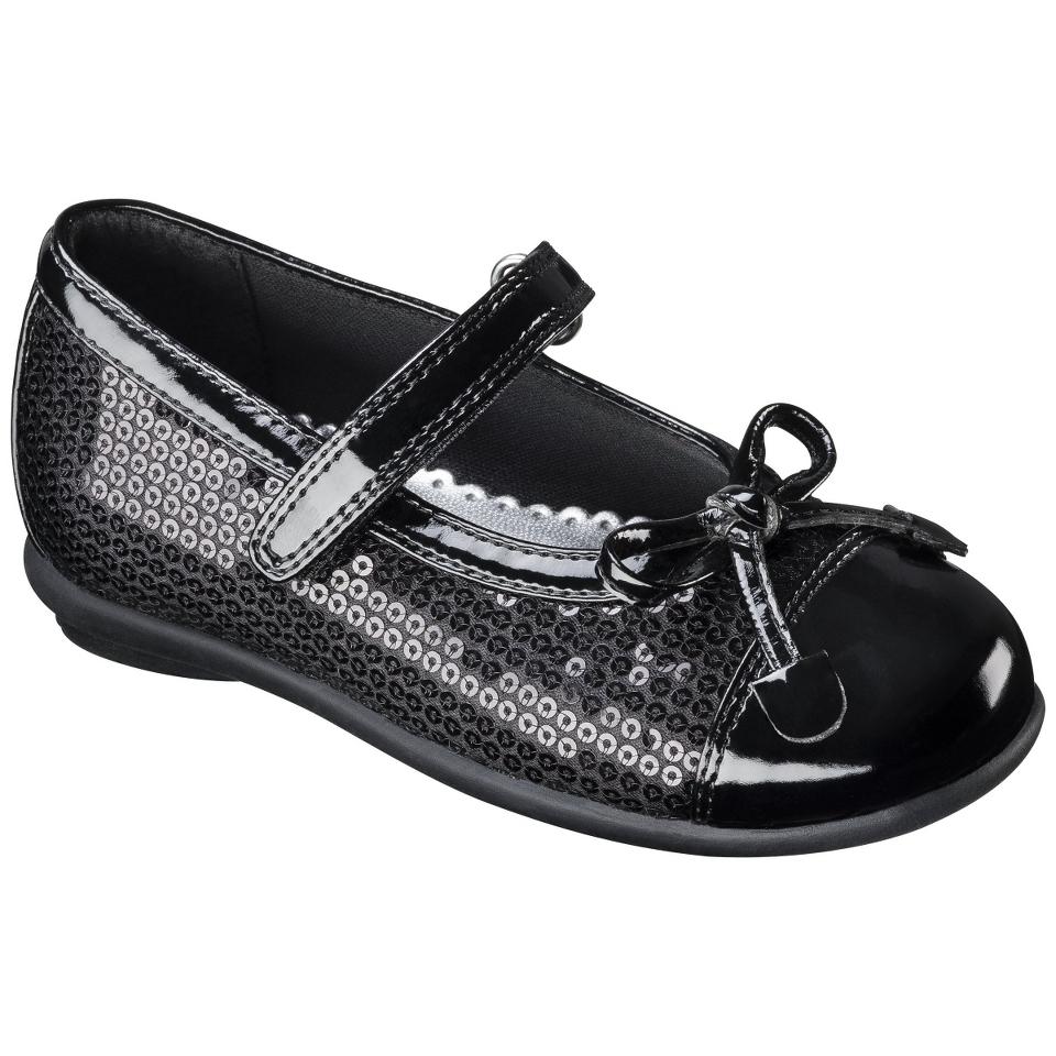 Toddler Girls Lil Princess Sequin Flat   Black 6