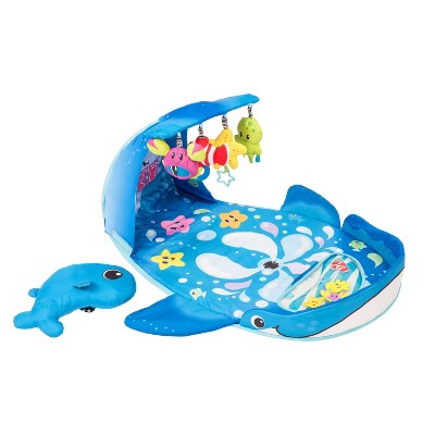 Infantino® Wonder Whale Kicks & Giggles Activity Gym™ - Blue