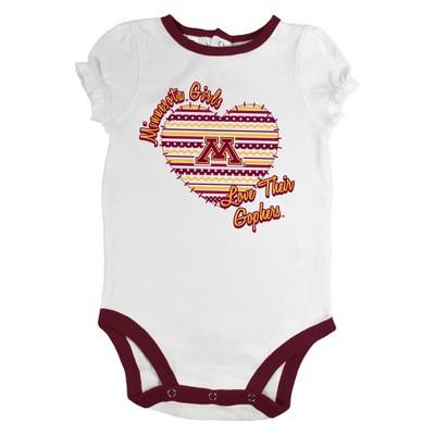 Minnesota Gophers Newborn Girls 3pk Body Suit White S, Newborn Girl's