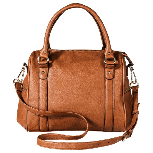 Women's Satchel Faux Leather Handbag with Removable Crossbody ...