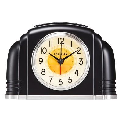 Bakelite Analog Alarm Clock Black - Crosley®