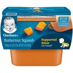 Gerber 1st Foods Butternut Squash Baby Food - 2.5oz (2ct)