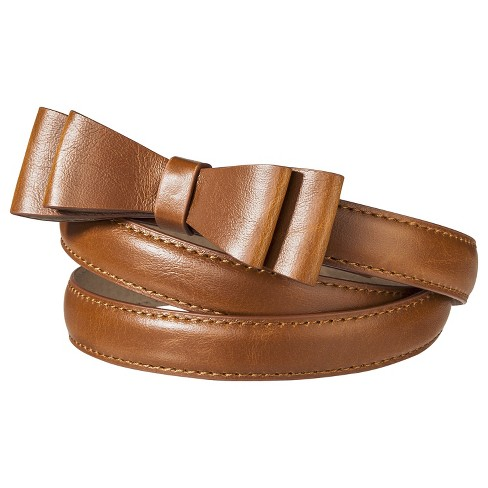 Women's Narrow Bow Buckle Belt - Tan  - Mossimo Supply Co.™ - image 1 of 1