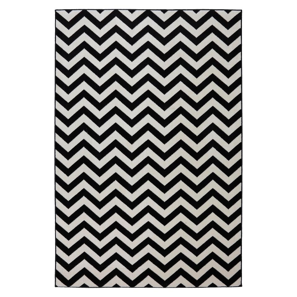 Mohawk Home Chevron Indoor/Outdoor Rug   Black (5x8)