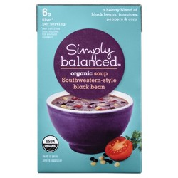 Organic Southwestern-Style Black Bean Soup 17.3 oz - Simply Balanced™