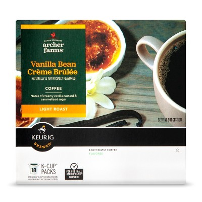 Vanilla Bean Crème Brulee -Sing Serve Pods - 18ct - Archer Farms™