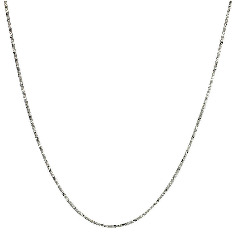 Men's Sterling Silver Twist Serpentine Spool Chain Necklace - Silver (18+2)