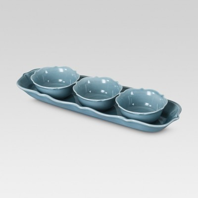 Wellsbridge Tasting Set 4-pc. Aqua - Threshold™