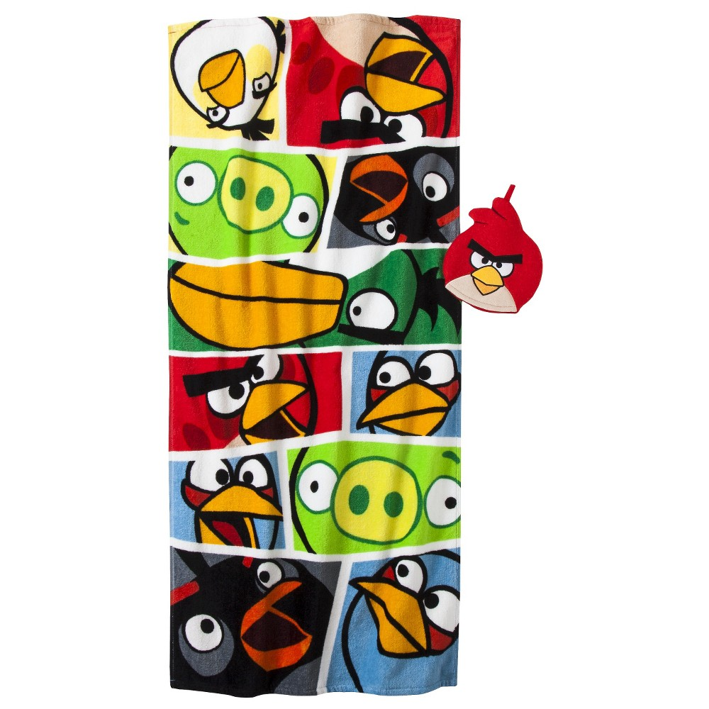 Angry Birds Bath Towel/ Wash Mitt Set, Multi-Colored