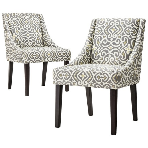 Griffin Cutback Dining Chair Gray Citron Set Of 2