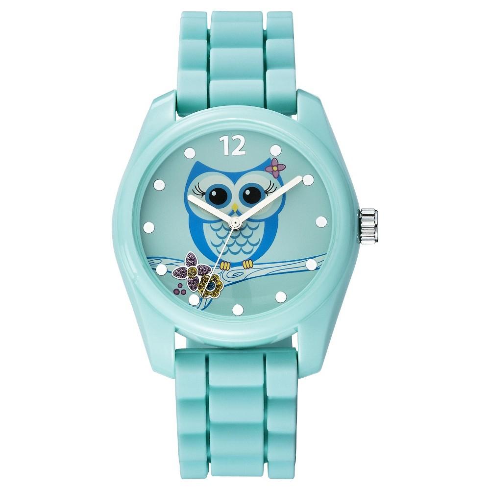 Women's Owl Character Analog Watch - Green - Xhilaration, Blue