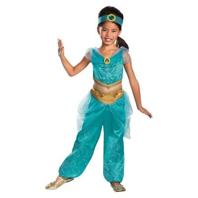 Disney Princess Girls' Jasmine Sparkle Deluxe Costume Medium (7-8)