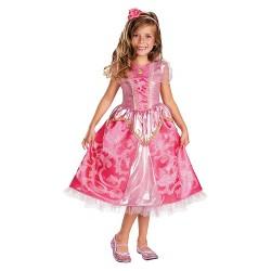 Disney Princess Girls' Aurora Sparkle Deluxe Costume Small (4-6)