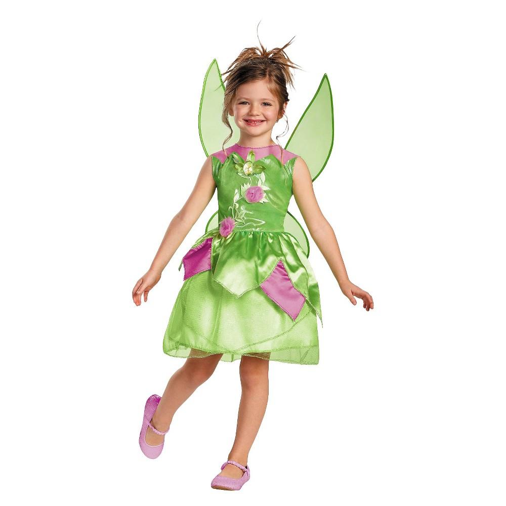 Disney Girls Tinker Bell Costume Large (10-12), Size: L(10-12), Variation Parent