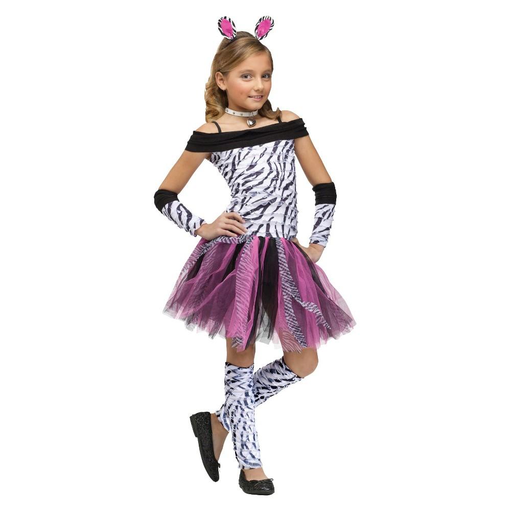 Zebra Child Costume L(12-14), Girls, Variation Parent