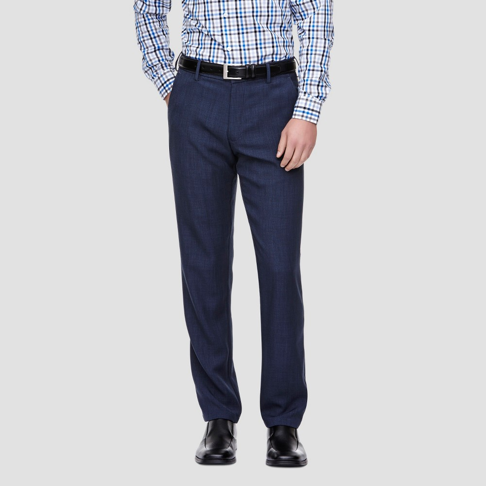 Haggar H26 – Men's Performance Straight Fit Pants Blue Heather 33X30