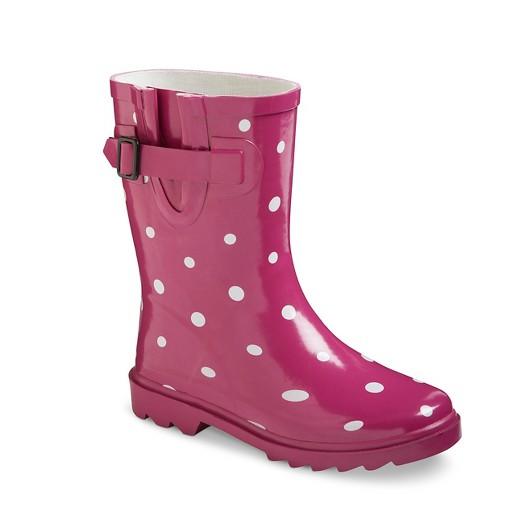Girls' Novel Dot Rain Boots : Target