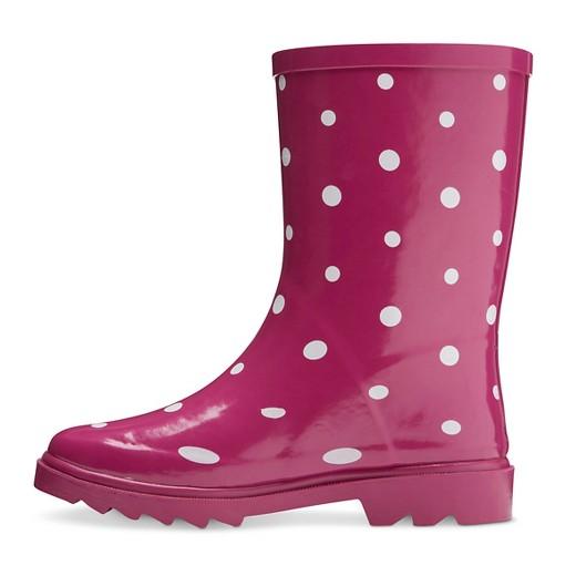 violet polka dots girls novel dot rain boots target