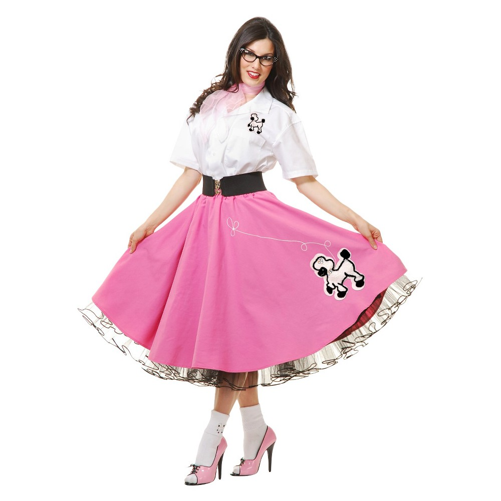 Womens 50s Pink Poodle Outfit Costume Small, Variation Parent