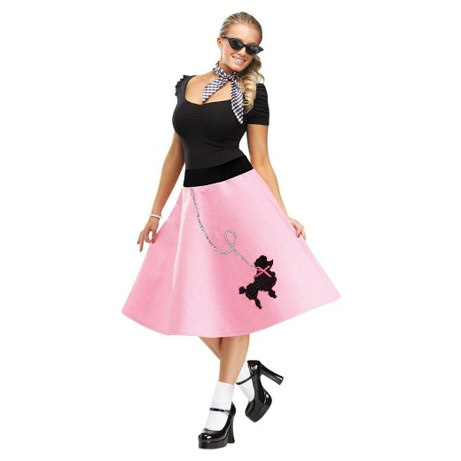 Womens Poodle Skirt Costume