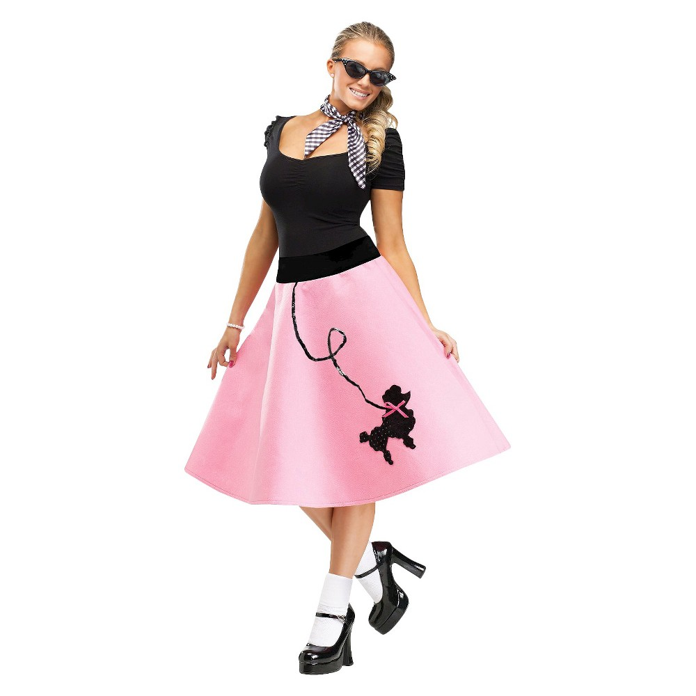 Womens Poodle Skirt Costume Large/XL, Size: L/XL