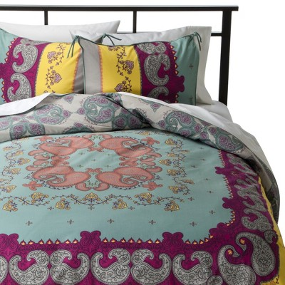 Lola Reversible Duvet Cover Set King Multicolor - Boho Boutique™
