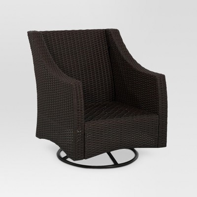 Belvedere Wicker Patio Swivel Club Chair - Frame Only - Threshold™