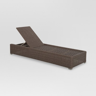 Heatherstone Wicker Patio Chaise Lounge - Frame Only - Threshold™  sc 1 st  Target : target chaise lounge - Sectionals, Sofas & Couches