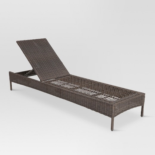 Belvedere wicker patio chaise lounge frame only for Belvedere chaise lounge