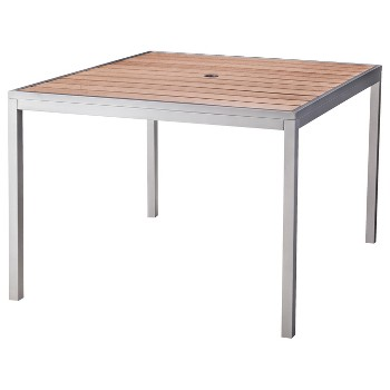 Wood Square Patio Dining Table