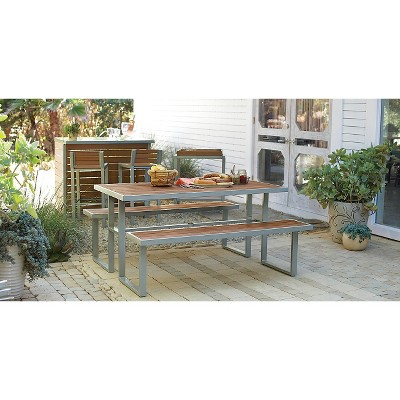Bryant Faux Wood Patio Picnic Table   Threshold™